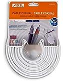 Engel CA0728E - Cable coaxial (25 metros), Blanco