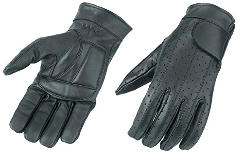 Raider Black Small Leather Summer Vented Motorcycle Gloves