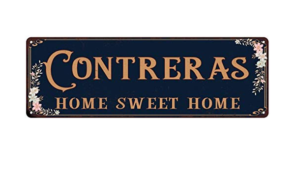 SLND0299 CONTRERAS Street Chic Sign Name Sign Home man cave Decor Gift