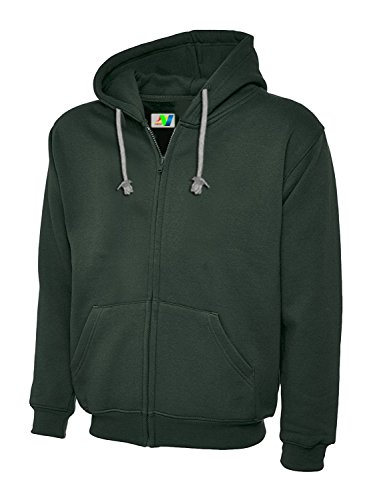 Green Zip Hooded Plain Jumper Verdi Jacket Sweatshirts Pullover Hoody And Top Full Mens Hoodie Ladies Premium Fleece For 0H0wBT