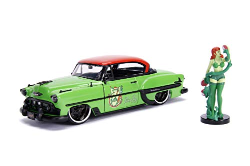 Poison Wide Body - Jada Toys DC Comics Bombshells Poison Ivy & 1953 Chevy Bel Air Die-cast Car, 1:24 Scale Vehicle, 2.75