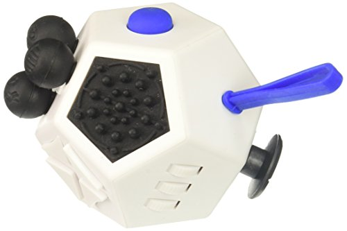 Fidget Dodecagon – 12 Sided Fidget Cube Relieves Stress and Anxiety – Toy Increases Focus and Attention for Children and Adults with ADHD, ADD OCD, and Autism (White) - 2