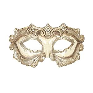 Womens Masquerade Ball Columbina Diamantes Eye Mask Ladies Hen Night Cosplay Mens Halloween Party Eye Masks Ivory One Size