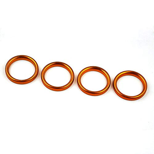 Nathan-Ng - 4 PCs Metal Exhaust Pipe Header Gasket for Suzuki 1975-1977 TS75 COLT 1974-1976 TM75 MINI CROSS 1971 T125II T125R SINGER