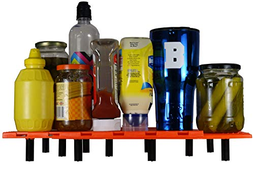 Ice-Olate The Cooler Tray Adjustable Food Shelf Divider Ice Chest Insert - Universal fit - FDA Food Grade Plastic (Orange) (Shelves For Coolers)