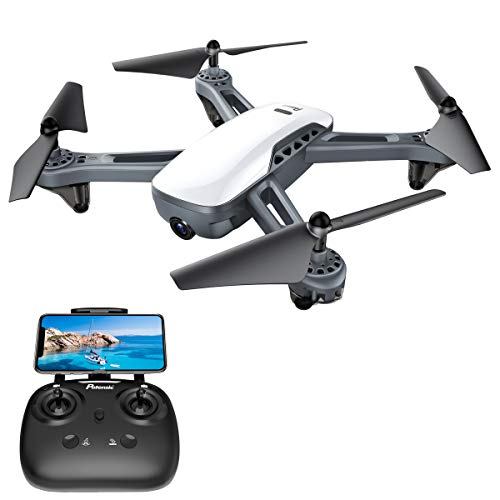 GPS Drones, Potensic D50 Quadcopter with Camera Live Video,GPS Return Home, Follow Me, Long Control Range, 5G WiFi Transmission, Great Gift