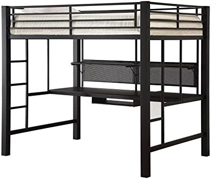 Avalon Full Workstation Loft Bed Black