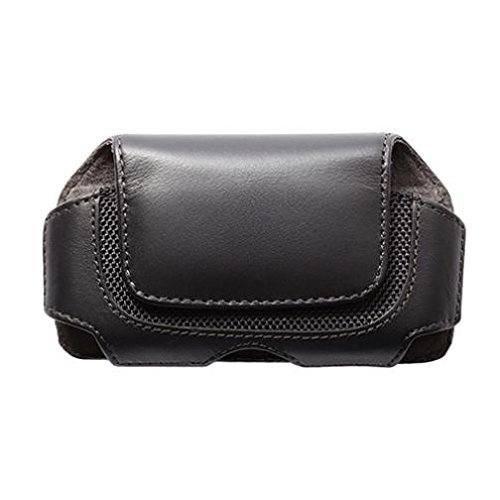 Black Horizontal Leather Case Cover Pouch Holster Swivel Belt Clip for US Cellular Blackberry Tour 9630 - US Cellular HTC 7 Pro - US Cellular HTC Hero S - US Cellular Huawei Ascend 2 (9630 Horizontal Leather Pouch)