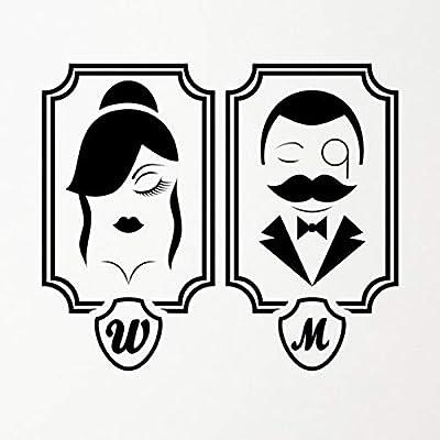 Pegatinas de baño aseo Damas /& Caballeros