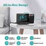 Dr. Prepare Projection Alarm Clock, Digital Clock