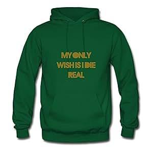 Green Regular Lightweight Die Real Sweatshirts X-large Women Custom-made