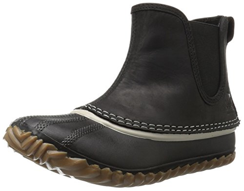 SOREL Women's Out N About Chelsea-W Cold Weather Boot, Black, 9.5 B US by SOREL