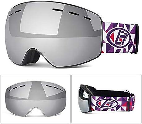 9f5777fbaf Aili Niños Gafas De Esquí Y Snowboard con Lente Antivaho, Talla  Única,Silver. Cargando imágenes.