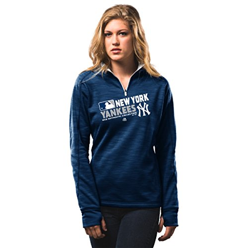 picture of MLB Women's Authentic Collection Team Choice Streak Fleece (Large, New York Yankees)