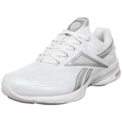 Reebok Women's EasyTone Reenew Walking Shoe,White/Pure Silver/Steel/Light Grey,6 D US