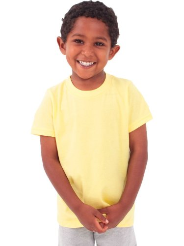 American Apparel Toddlers Fine Jersey Short-Sleeve T-Shirt (2105) -LEMON -4T by American Apparel (Image #6)