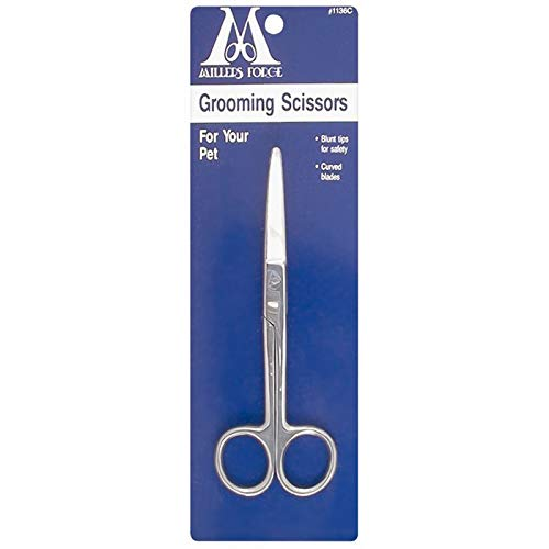 Millers Forge Pet Grooming Scissors, Blunt Tip, 5-3/4-Inch, Curved