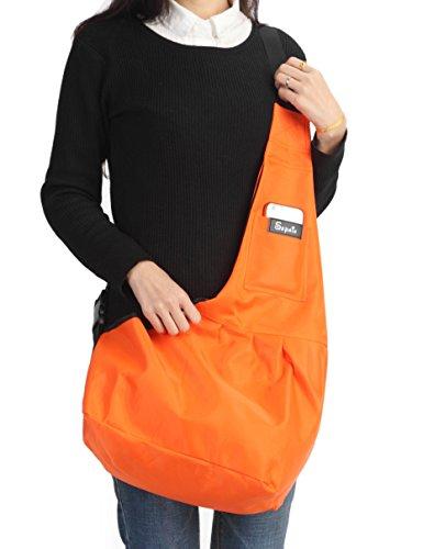 Sepnine-190D-Nylon-Waterproof-Pet-Carrier-Shoulder-Bag-With-Extra-Pocket-for-Cat-Dog-And-Small-Animals-Orange