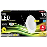 Feit Electric 5 in. and 6 in. White Trim Recessed Retrofit Baffle Downlight LED Module 90 CRI, 2700K (4-Pack)