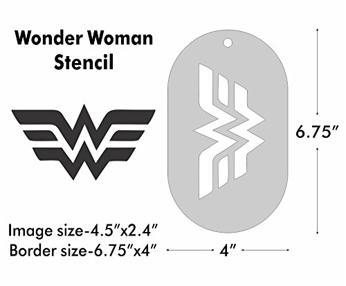 Large Stencil - Wonder Woman