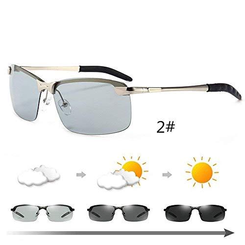 Soleil Changer Lunettes au Cadre de Volant Homme de Couleur Peuvent Sunglasses SEnjoyy pour polarisées de Couleur Lunettes Argent Lunettes de de de Sport Soleil vélo 14wTn8Yvq