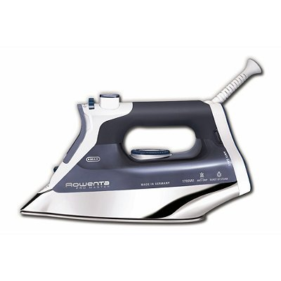Iron Stainless Steel Handles (Rowenta DW8080 Pro Master 1700-Watt  Micro Steam Iron Stainless Steel Soleplate with Auto-Off, 400-Hole, Blue)