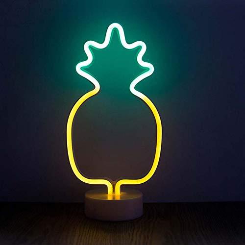 Vvciic Pineapple Night Decoration Light LED Night Lovely Cute Cactus Shape Light Wall Hanging Neon Light