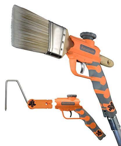 Pole Extension Paint - McCauley Tools -REVOLVER- Multi Position Paint Brush and Paint Roller Extender for threaded AND locking poles.
