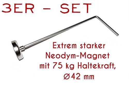 75 kg Magnet Abl/änghilfe Set 25cm 100cm 33cm