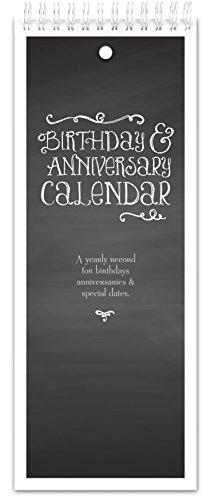 (Chalkboard Style Perpetual Birthday & Anniversary Calendar)