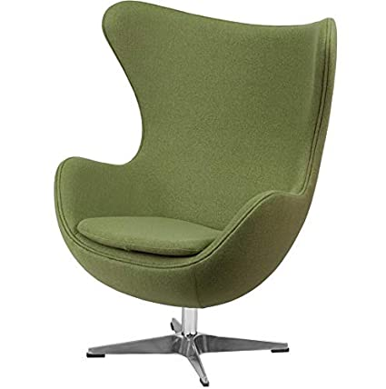 Amazon.com: Hebel Wool Egg Chair with Tilt | Model CCNTCHR - 375 ...