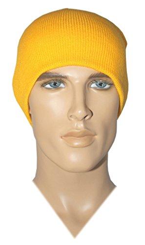 Costume Adventure Acrylic Knit Gold Beanie Costume Hat