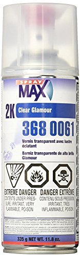 2 Pack Paints (Spraymax 3680061 2K Clear)