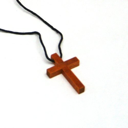 Fun Express Wooden Cross Necklaces (12 Pack)