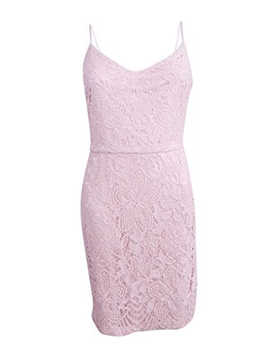 GUESS Women's Floral Lace Slip Dress, Blush, (Guess Slip)