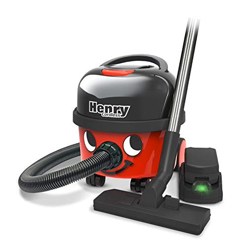 Numatic/NaceCare Henry Cordless Compact Canister Vacuum Cleaner HVB 160-2 Batteries Included, 2 Speed Selection, with Professional AS29E Accessory Set
