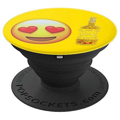 Emojicon Heart Love Tequila Phone Holder Grip - PopSockets Grip and Stand for Phones and Tablets -