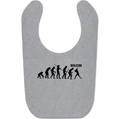Evolution Baby - Baseball Evolution - Unisize - Grau meliert - BZ12 - Süßes Baby Lätzchen als Accessoire für Jungs und Mädchen