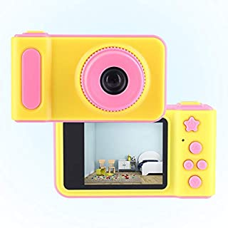 Bewinner Children's Digital Camera, 2.0 inch HD 1080P Mini Rechargeable Children Toy Video Camera 0.5m to Infinite Focal Length Indoor Outdoor for Kids(Pink)