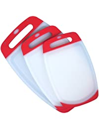 Favor 3 Piece Plastic Cutting Board Set - Acrylic Polypropylene Plastic - Dishwasher Safe - 3 Plastic Chopping Boards... opportunity