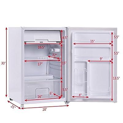 4.4 Cu. Ft. Compact Mini Refrigerator Freezer