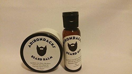 Adirondacks Beard Oil for Men 1 oz + Beard Balm 2 oz- All Natural, Alcohol free Beard Oil + Balm made with all natural ingredients.