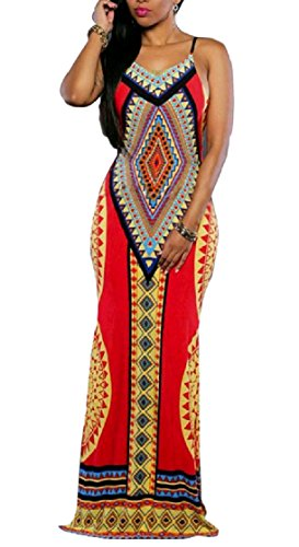 Backless Women Dress Sexy Style Pencil Split Coolred Sling Red Evening African Long Fitted AxdHqx5wO