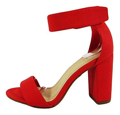 Aperta Rosela Punta Sandalo Rosso Cinghia Della Deliziosa Caviglia Tallone Della Pu Del RTqwExwBA