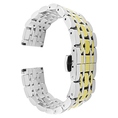 elets for Women 12mm Watch Band Replacement Deployment Buckle ()