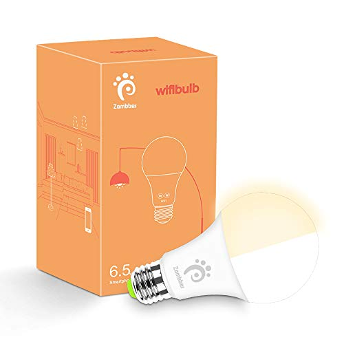 Zombber Smart LED Bulb, E27 Wi-Fi Smart Light Bulb, Compatible with Amazon Alexa, Google Assistant and IFTTT, Phone Control, No Hub Required, Tunable Daylight Night Light Lamp (50W Equivalent) For Sale