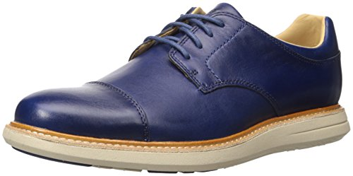 (Sebago Men's Smyth Cap Toe Oxford, Navy Leather, 11 M US)