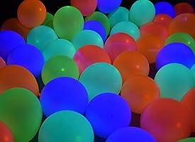 Neon Glow Party Balloons UV Blacklight Reactive Fluorescent Balloons 12inch Latex Balloons Neon Balloons Glow in The Dark Black Light Balloons for Birthday Decorations Wedding Glow Party Balloons