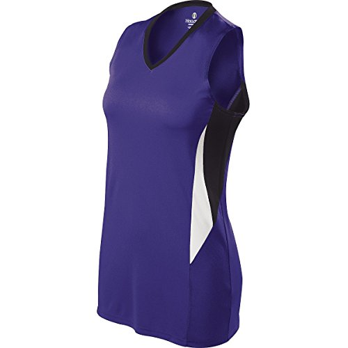 Holloway Ladies Rise Jersey-Purple/Black/White X-Large by Holloway