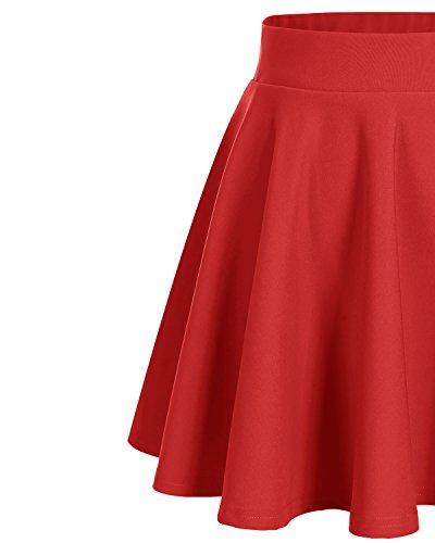 Mini Bridesmay Casual Alta Gonna Red Solida Colore Vita Donna Gonna r6qIxwr0